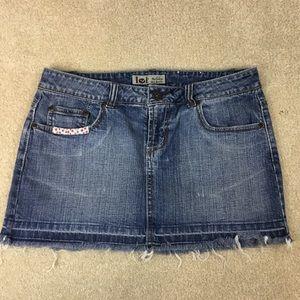 Vintage LEI Thrash Micro Mini Low Rise Skirt sz 7